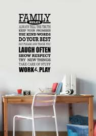 Family Rules Wall Decal Inspirational Quotes Vinyl Sticker Art Home Decor Hq47 Ebay
