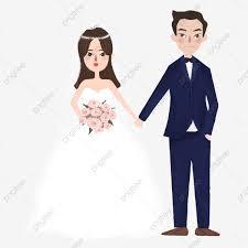 العروس و العروسة العروس كرتون الزواج Png وملف Psd للتحميل مجانا