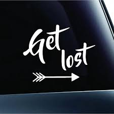 Get Lost Text Arrows Hiking Camping Adventure Outdoor Computer Laptop Symbol Decal Family Love Car Truck Sticker Window Car Stickers Aliexpress