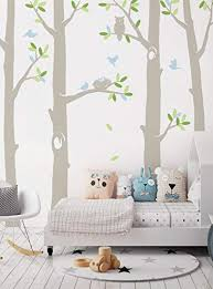 Amazon Com Simple Shapes Scheme A 108 H Nature Tree Scene With Baby Birds And Nest Wall Decal Furniture Decor