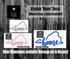 Virginia Born Va Love Decal Va State Decal Va Vinyl Decal Etsy
