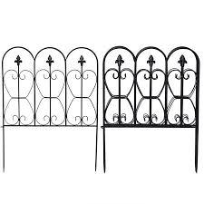 32in X 10ft Folding Decorative Garden Fence Set Of 5 Coated Metal Panels Walmart Canada