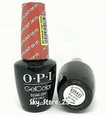 gelcolor soak off gel nail polish opi
