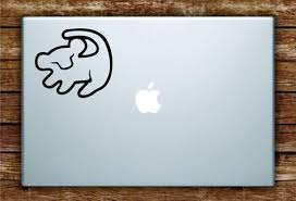Simba Lion King Laptop Decal Sticker Vinyl Art Quote Macbook Apple Decor Movies Disney Rafiki Cute Custom Word Art Laptop Stickers Laptop Decal Stickers