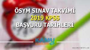ÖSYM Sınav Takvimi ve 2019 KPSS Başvuru Tarihleri