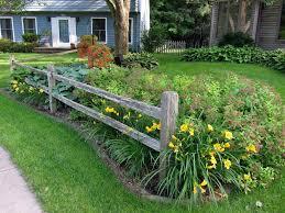 Beth S Garden In Iowa Day 1 Small Front Yard Landscaping Fence Landscaping Landscaping Around Trees