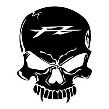 skull vire yamaha fz sticker