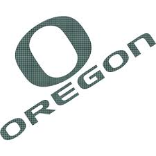 Oregon Ducks Perforated Vinyl Window Decal O Over Oregon