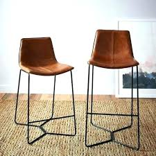 low back leather bar stools