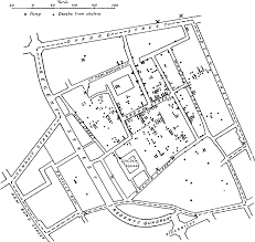 Snow's map of the cholera outbreak in London in 1854 (from Edward Tufte...  | Download Scientific Diagram