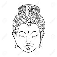 Vector Artistically Portrait Of Buddha For Ornamental Adult
