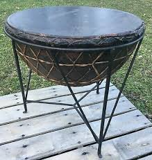 vintage african style kettle drum with