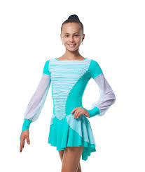 Abigail (green) — figure skating dress — Buy in Gymnastics Fantastic Shop