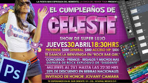 Crear Un Flyers Fiesta Cumpleanos En Photoshop Youtube