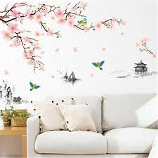 Wall Decals Wall Stickers Vinyl Peony Floral Wall Art Stickers Flower Sticker Ebay