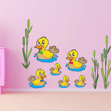 Swimming Ducks Wall Decal Style And Apply