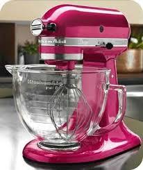 kitchenaid pink glass bowl kitchen