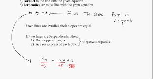 find slopes of parallel and