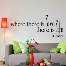 Where There Is Love Gandhi Quote Wall Sticker Decal World Of Wall Stickers