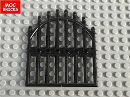 Lego 2 Fence Gate Door 1 X 4 X 9 Arched Gate W Bars Plus 2 1x3 Bricks W Clips
