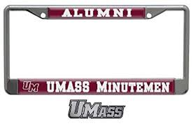 Wincraft Umass Alumni Gift Set 1 Chrome License Plate Frame And 1 Chrome Auto Emblem Decal Alumni Gifts Car Emblem License Plate