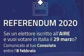 Referendum 2020 - Modulo per opzione voto in Italia - Comune di Ferrere