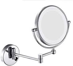 syddp wall mounted makeup mirror led