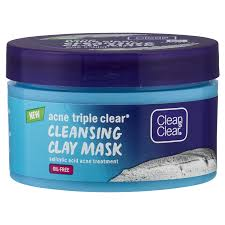 triple clear cleansing clay mask