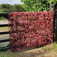 Artificial Hedge Artificial Red Acer Expanding Willow Trellis