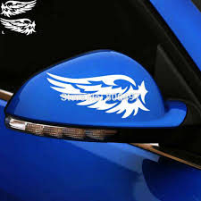 2 X New Style Rear View Mirror Car Stickers Funny Wing Of The Angel Car Decal For Tesla Ford Chevrolet Honda Toyota Lada Aliexpress