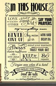 In This House We Do Decal 0109 Rules Decal Family Rules Family Wa Wall Decal Studios Com