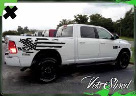 Veterans Shred Universal Truck Graphics Us Flag Bed Stripes Side Body Graphics Decals 3m Vinyl Decal Kit Truck Decals Custom Graphics For Muscle Cars Elite Limit