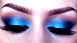 blue eyeshadow makeup tutorial how to