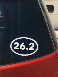 26 2 Marathon Vinyl Car Window Decal Etsy