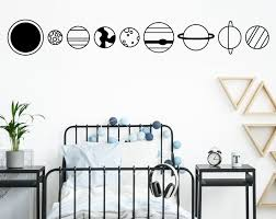 Planet Wall Decals Outer Space Decals Kids Room Decor Nursery Decor Space Wall Art Space Bedroom Decor Sun Decal Earth Decal