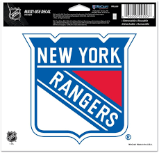 Amazon Com Wincraft Nhl New York Rangers Multi Use Colored Decal 5 X 6 Automotive Decals Sports Outdoors