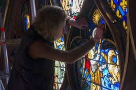 meval stained glass windows of paris