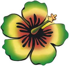 Amazon Com Rasta Hibiscus Window Sticker Decal 4 5 X 4 5 Automotive