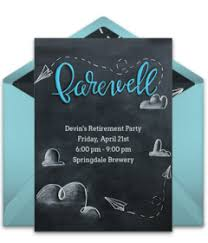 farewell party invitation cards for