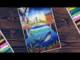 draw scenery of environment pollution