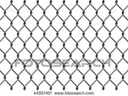 Chain Link Fence Clipart K4337401 Fotosearch