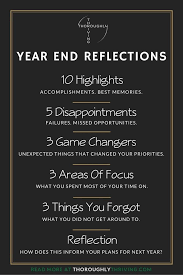 what are your year end reflections take some dedicated time