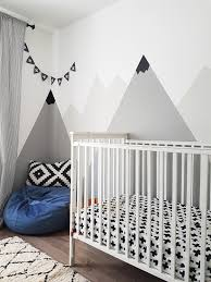How To Paint A Diy Nursery Mountain Mural No Art Skills Required