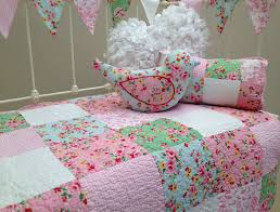 cot quilt girl nursery bedding