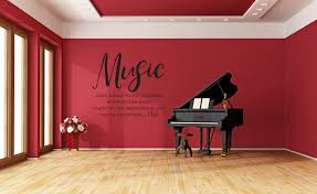 Vinyl Wall Art Decal Music Gives A Soul To The Universe Wings To The Mind Flight To The Imagination And Life To Everything Plato