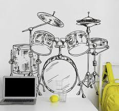 Drum Kit Wall Sticker Tenstickers