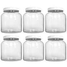 half gallon glass jars 64 oz airtight