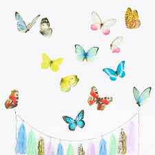 Butterfly Wall Decal Playroom Decor Watercolor Mural Baby Etsy