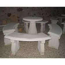 stone table set shape round rs 55000