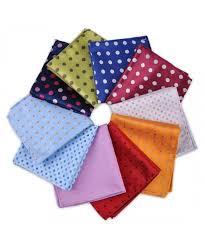 polka dot pocket square jacquard woven